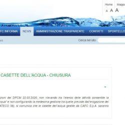 CHIUSURA Casetta dell'Acqua Cervignano del Friuli